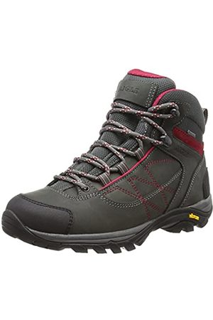 Aigle Women's Mooven Leather W Gore-Tex High Rise Hiking Shoes, (Darkgrey/Cherry 001)