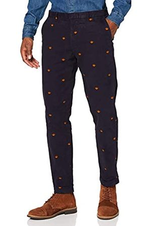 Scotch&Soda Men's AMS Blauw Stuart Chino in Seasonal Allover Print Trouser