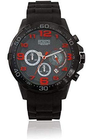 Munich Unisex Adult Analogue Quartz Watch with Rubber Strap MU+137.1A