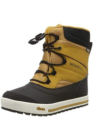 Merrell Unisex Kid's M-Snow Bank 2.0 Arctic Grip Waterproof Boots, (Wheat/ )