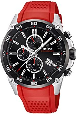 Festina The Originals collection' Men's Quartz Watch with Black Dial Chronograph Display and Rubber strap F20330/7