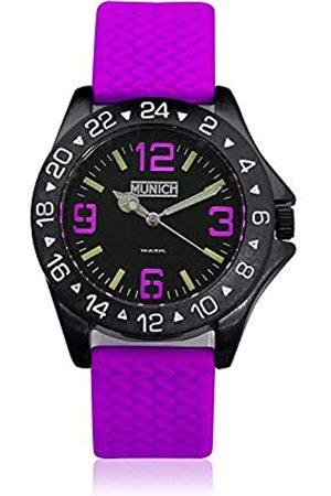 Munich Unisex Adult Analogue Quartz Watch with Rubber Strap MU+120.6A
