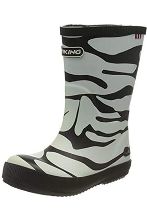 Viking Unisex Kids' CLASSIC INDIE ZEBRA Unlined Rubber Boots Long Shaft Boots & Bootees, Multicolore - Mehrfarbig (201)