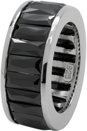 Carlo Monti Women's Ring 925 Sterling Silver Rhodium-Plated Cubic Zirconia Baguette JCM 103–121 18mm