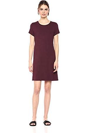 Amazon Essentials Solid Short-Sleeve Scoopneck Swing Dress Casual