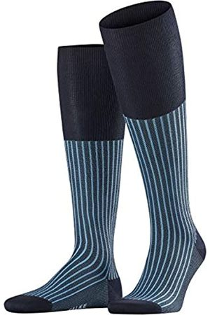 Falke Men Oxford Stripe Knee-Highs - Cotton Blend, UK 11.5-12.5 (Manufacturer size: 47-48)