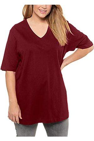 Ulla Popken Women's V-Neck, Short Sleeve T-Shirt