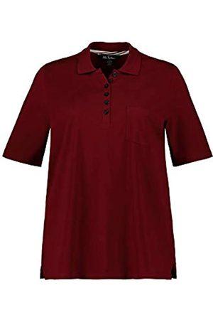 Ulla Popken Women's Poloshirt Mit Brusttasche Pima Cotton, Classic Polo Shirt