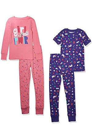 Spotted Zebra 4-Piece Snug-Fit Cotton Pajama Set Girl Power