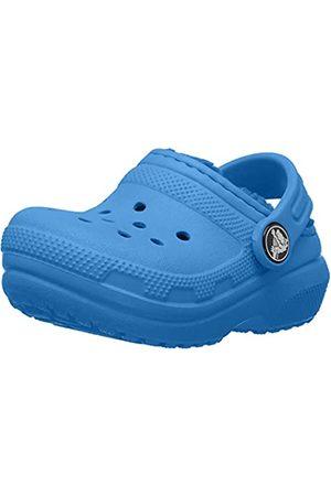 Crocs Kids' Classic Lined Clog, (Bright Cobalt/Bright Cobalt 4jv)