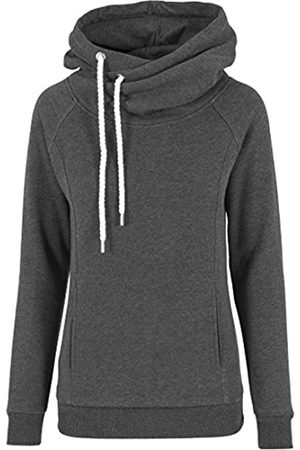 Urban classics Women's Pullover Raglan High Neck Hoody Jumper