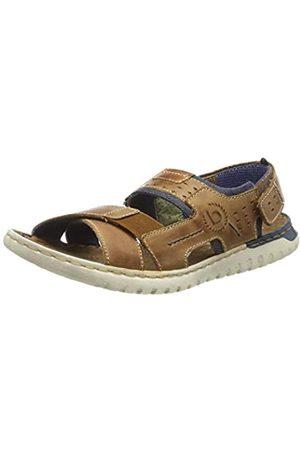 Bugatti Men's 321707821200 Ankle Strap Sandals, (Cognac 6300)
