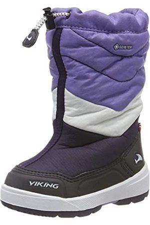 Viking Unisex Kids' Halden GTX Snow Boots, (Aubergine/ 8316)