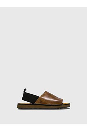 Fly London Men's BRAS186FLY Open Toe Sandals, (Camel 001)