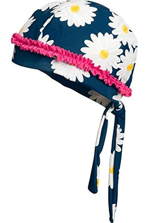 Playshoes Girl's UV Sun Protection Headscarf, Swim Cap Marguerite, (Navy)