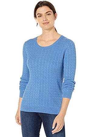 Amazon Essentials Lightweight Cable Crewneck Sweater French Heather