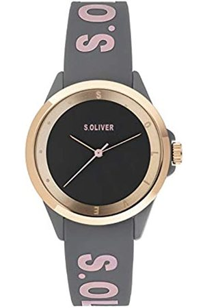 s.Oliver Womens Analogue Quartz Watch with Silicone Strap SO-3847-PQ