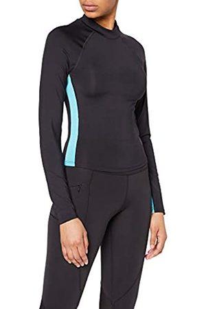 AURIQUE Amazon Brand - Women's Long Sleeve Side Stripe Sports Top, 8