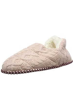 Absolute Footwear Aria Womens Snowflake Slip On Bootie Slippers with Pom Poms