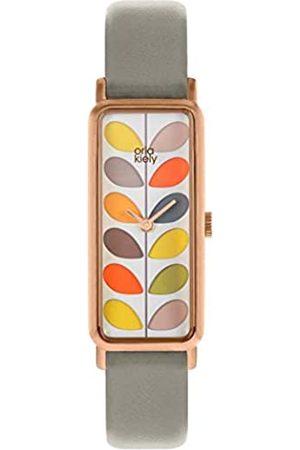 Orla Kiely Unisex Adult Analogue Classic Quartz Watch with Leather Strap OK2288
