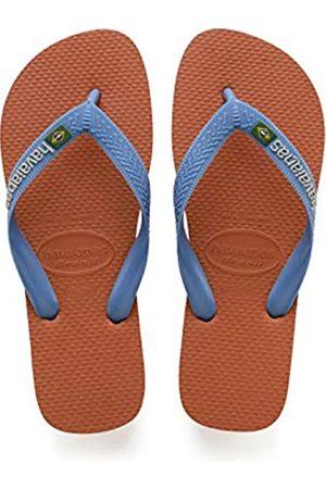 Havaianas Brasil Logo, Unisex Adults' Flip Flop Flip Flops, ( Bronze)