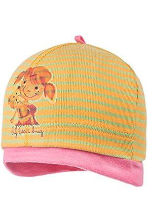 maximo Girl's Mini-Mütze Ringeljersey Hat, Multicoloured-Mehrfarbig (quitte/hellgrün 36)