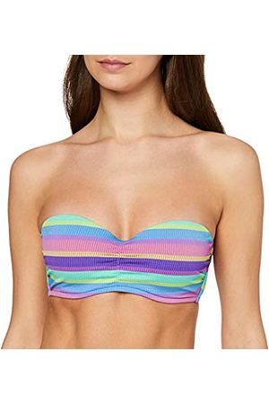 Seafolly Women's Baja Stripe Bustier Bandeau Bikini Top
