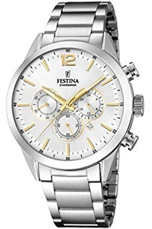 Festina Mens Chronograph Quartz Watch with Stainless Steel Strap F20343/1
