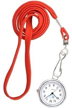 FunkyFobz Essential Lanyard Watch - Red Nurse HCA Doctor