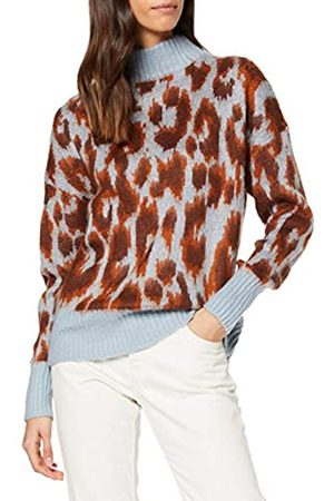 Warehouse Women's Brushed Animal Jumper Pullover Sweater