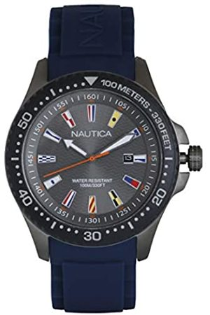 Nautica Unisex Adult Quartz Watch with Silicone Strap NAPJBC008