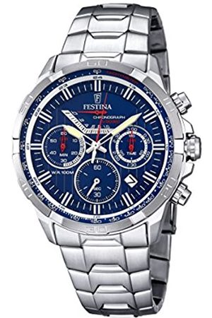 Festina Men's Quartz Watch with Dial Chronograph Display and Stainless Steel Bracelet F6836/3