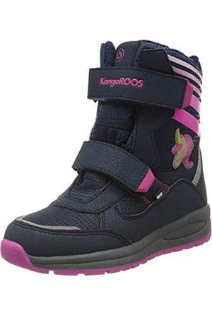 KangaROOS Unisex Kids' Flashy SL RTX Snow Boots, (Dk Navy/Daisy 4204)