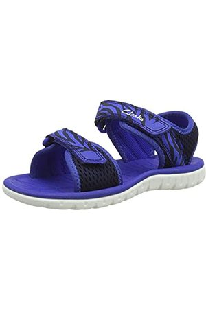 Clarks Boys' Surfing Tide K Sling Back Sandals, (Navy Combi Navy Combi)
