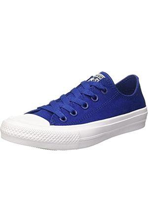 Converse Unisex Adults' Chuck Taylor All Star Ii Ox Low-Top Sneakers, (Blau/Weiß Blau/Weiß)