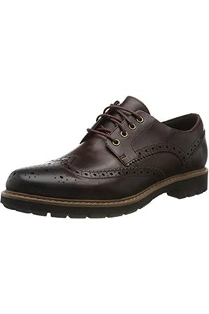 Clarks Men's Batcombe Wing Brogues, (Burgundy Leather Burgundy Leather)