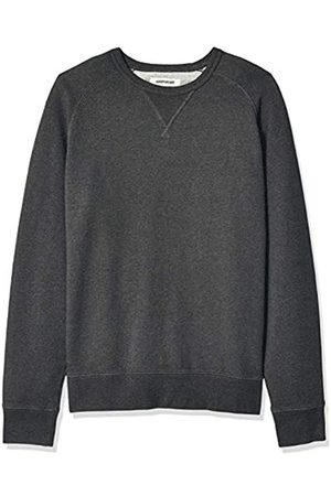 Goodthreads Amazon Brand - Men's Crewneck Fleece Sweatshirt Sweatshirt, (Charcoal Heather)