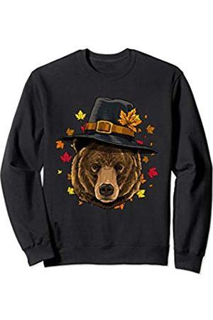 Wowsome! Thanksgiving Bear Pilgrim Costume Men Women Sweatshirt