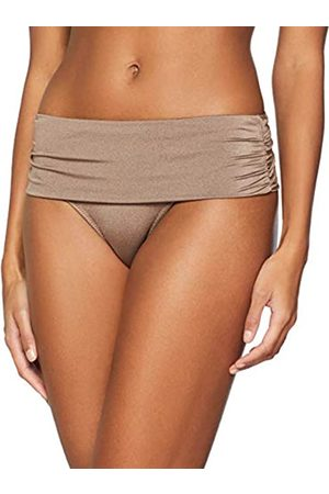 Pour Moi Women's Azure Fold Over Ruched Brief Bikini Bottoms