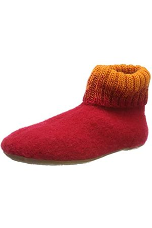 Haflinger Unisex Adults' Everest Iris Open Back Slippers, (Ziegelrot 85)