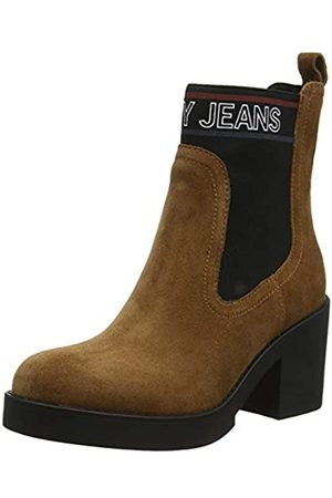 Tommy Hilfiger Women's Corporate Elastic Suede Boot Ankle, (Winter Cognac Gvi)
