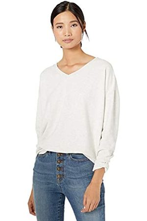 Goodthreads Modal Fleece V-Neck Drop-Shoulder Sweatshirt Pale Heather