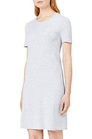 MERAKI Women's Slim Fit Rib Summer T-Shirt Dress