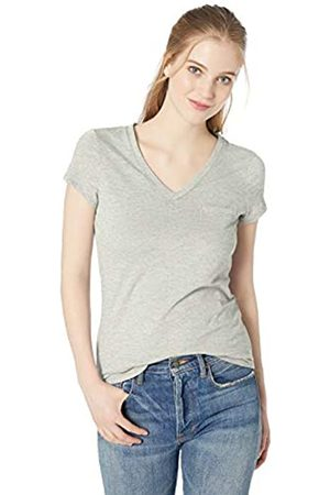 Daily Ritual Womens Lightweight Lived-in Cotton Pocket V-neck T-shirt Solid Lightweight Lived-in Cotton Pocket V-neck T-shirt T-Shirt