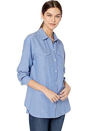 Goodthreads Solid Brushed Twill Long-sleeve Utility Shirt Button