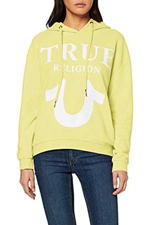 True Religion Women's Hoody Oversize Logo Puffy Print