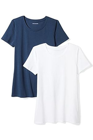 Amazon 2-pack Short-sleeve Crewneck Solid T-shirt (Navy/ )