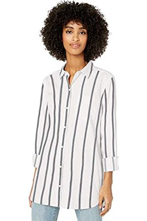Goodthreads Lightweight Twill Long-sleeve Button-front Shirt /Asphalt Stripe