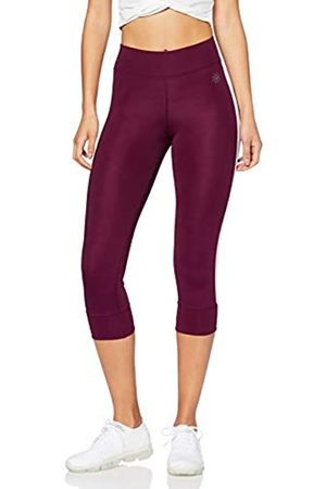 AURIQUE Amazon Brand - Women's Side Stripe Cropped Sports Tights, 10