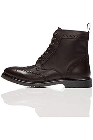 FIND Leather Cleated Brogue Biker Boots, )